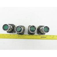 Allen Bradley 800T-PA16/T Green Push Button 120V 50/60Hz 1NC 1NO Ser T Lot of 4