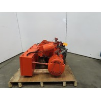 Wright WH1 2 Ton Electric Hoist & Power Trolley Wire Rope 21' Lift 15FPM 460V