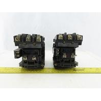 Allen Bradley 500-B0DX21 Series B 10Hp 27A 3P Motor Starter 120V Coil Lot of 2