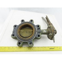 "Milwaukee CL233E 4"" Lug Butterfly Valve Alum/Bronze Disc W/EPDM Seat & Lever"