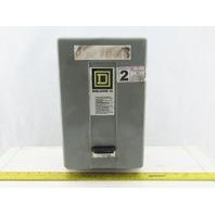 Square D 8911DPS043V02 Size 2 Enclosed Starter 3 Pole 600V W 120V Coil