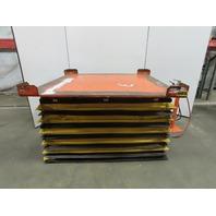 "Knight 4000Lb Capacity Pneumatic Scissor Lift 65""x64"" Turn Table 13-48"" Height"