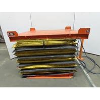 "2 Ton 4000Lb Capacity Pneumatic Scissor Lift 60""x50"" 11-1/4""-40"" Height"