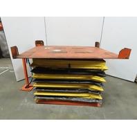 "4000Lb Capacity Pneumatic Scissor Lift 72""x56"" Turn Table 10-41"" Height"