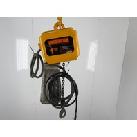 "Harrington NER010S 1 Ton 28'8"" Travel 28FPM 3Ph 460V Electric Chain Hoist"