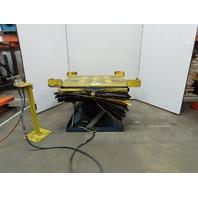 "Pneumatic Scissor Lift Table 4000 Lb Cap 50"" x 44"" Top 6-3/4"" To 30-1/2"" Height"