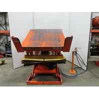 "4000Lb Pneumatic Scissor Lift & 30° Tilt Table 56""x50"" Top 15-1/2"" to 38"" Height"