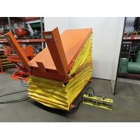 "American 4000Lb Pneumatic Scissor Lift & 30° Tilt 80""x38"" Table 18 to 39"" Height"