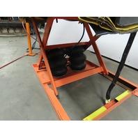 "4000Lb Pneumatic Scissor Lift & 30° Tilt 48""x40"" Table 12-1/2"" to 43"" Height"