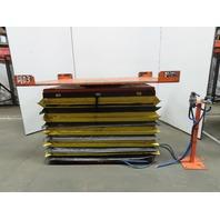 "4000Lb Capacity Pneumatic Scissor Lift 53""x40"" Turn Table 12-3/4""-40"" Height"
