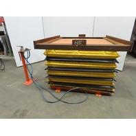 "4000Lb Capacity Pneumatic Scissor Lift 52""x38"" Turn Table 12-1/2""-41"" Height"
