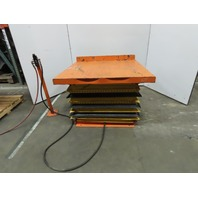 """4000 Lb Air Pneumatic Scissor Lift Table 38""""x24"""" Top 11-1/2"""" to 32"""" Height"""