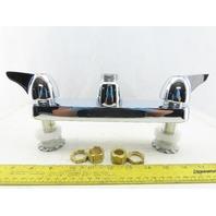 """Chicago Faucet 1100-LESXKAB Sink Faucet Chrome Plate Less Spout 8"""" Hole Center"""
