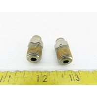 "1/4"" NPT x 1/4"" Push To Connect Male Stainless Steel Lot Of 2"