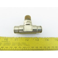 "3/8"" NPT x 1/2"" Tube Push To Connect Stainless Steel Tee"