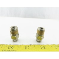 "1/4"" NPT x 1/4"" Tube Push To Connect Stainless Steel Male Fitting Lot Of 2"