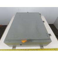 "Hoffman A-30H248LP Electrical Box JIC Enclosure 30""x24""x8"" Steel Wall Mount"