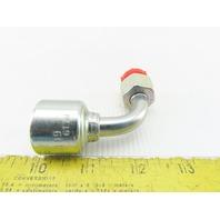 """Gates 6G-12FDLORX90 3/8"""" Hose ID x Swivel M18x1.5 Thread 90° Hydraulic Elbow"""