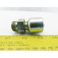 "Gates G25715-0612 3/8"" Hose ID x 1/2-14 Male Crimp Hydraulic Hose End Fitting"