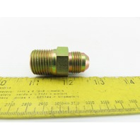 "3/4-16 (-8) Flare x 1/2"" NPT Hydraulic Male Adapter"
