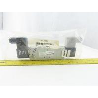 Numatics L12BB652O060T30 4/3 Position Double Solenoid Pneumatic Valve 120V Coil