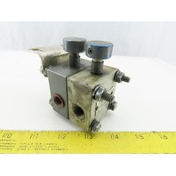 Racine 651261 Gage Isolator 3 Way Valve Double Stack Assembly