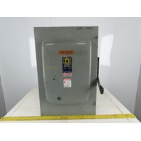 Square D DU325 400A 240VAC Type 1 Single Throw Non Fused Disconnect