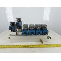 Vickers DG4V-32-2C-M-FW-B5-60 6 Station Hydraulic Manifold Valve Bank Assembly