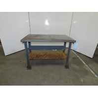 """48"""" x 30"""" x 34""""T Vintage Steel Work Craft Assembly Bench"""