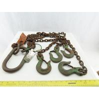 "FD Lake WLL11200 40"" Reach 4 Leg Chain Sling Grab Hook Rigging Lift Hoist"