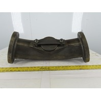 """10"""" Flanged 2500 Ductile Iron Pipe Trap Elbow Approx. 165° With Cleanout"""