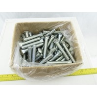 "3/4-10 Zinc 4-1/2"" GR2 Carriage Bolts Lot Of 60"