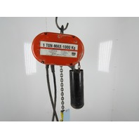 CM Lodestar Model L 1 Ton 2000LB Electric Chain Hoist 24' Lift 16FPM 3PH 460V