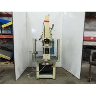 "Air Pneumatic Punch Pierce Press C Frame 7-1/2"" Throat 5"" Stroke 115V Controls"