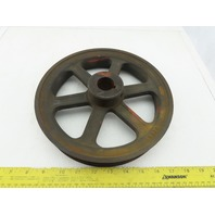 """9-3/4"""" OD 5V 2 Groove Belt Spoked Pulley Sheave 1-1/8"""" Bore"""