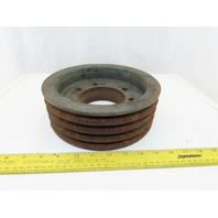 "9"" OD x 3"" 4 Groove Belt Pulley Sheave Taper Lock Bushed"