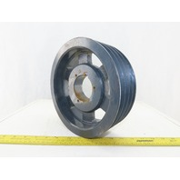 "9-1/4"" OD x 3-1/8"" 4 Groove Belt Pulley Sheave 2-1/2"" Bore"