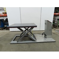 "Laweco 2800Lb hydraulic Scissor Lift Table 55"" x 39"" 208V 3Ph 5to36"" Height"