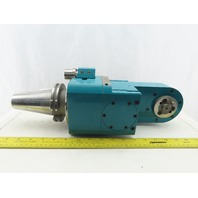 PDQ 402-24-011 CNC Cat 50 Right Angle Tooling 3:1 Gear Reduction Head
