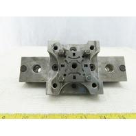 "EDM Tooling 3-1/2""x3-1/2""x1"" Aluminum Adapter Plate Lot of 2"