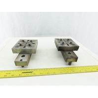 "EDM Tooling 4""x4""x1"" Aluminum Adapter Plate Lot of 2"