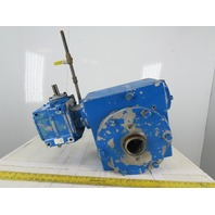 "Jervis Webb B622 150:1 Ratio 11.6RPM @ 1750 Input 3"" Hollow Shaft Gear Reducer"