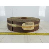 "5"" 3 Ply Woven Back Diamond Cleat Incline Decline Conveyor Belt 60'"