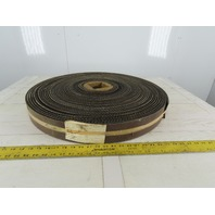 "3"" 2 Ply Woven Back Diamond Cleat Incline Decline Conveyor Belt 128'"