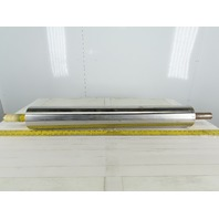 """Dematic 4-1/2""""OD 33"""" BF 32 1/4 Flat Face Conveyor Drive Pulley Roller"""