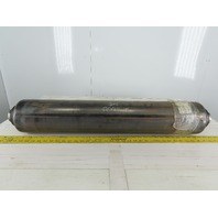 "Dematic K000309AAD 6"" OD 34-1/2"" BF 31-1/2"" Flat Face Conveyor Idler Pulley"
