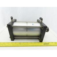 "Fabco-Air MP4X3X2X1FF-HR Pancake Line Pneumatic Cylinder 4"" Bore 3"" Stroke"