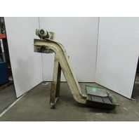 """Turbo Incline Chip Conveyor 22x28"""" Infeed 4.2 FPM 42"""" Discharge 230-460V 3PH"""