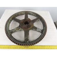 "28-1/2"" OD 84T 1"" Pitch 3-1/4"" Wide Iron 3-1/2"" Bore Clutch Spur Gear Flywheel"