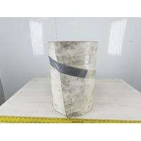 "2-Ply White/Clear Polyurethane Smooth Top Conveyor Belt 18""W X 10'L X 0.208""T"